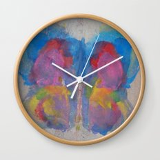 Pastel Ice Cream Butterfly Wall Clock