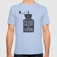 the daily grind Mens Fitted Tee Athletic Blue SMALL