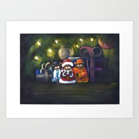 Merry Christmas World Art Print