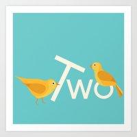 Two Songbirds Art Print