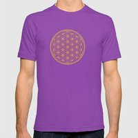 Mandala Blume des Lebens Mens Fitted Tee Ultraviolet SMALL