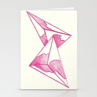 CRAYON LOVE: Strawberry Milk From The FUTURE Stationery Cards