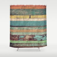 Wooden Vintage  Shower Curtain
