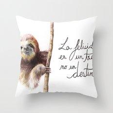 Paresseux Throw Pillow