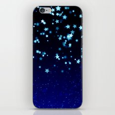 Twinkele Blue Stars iPhone & iPod Skin