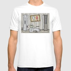 robot schmobot in color Mens Fitted Tee White SMALL