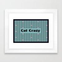 Cat Crazy Framed Art Print