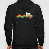 Nyan Time with Jake and Finn Hoody