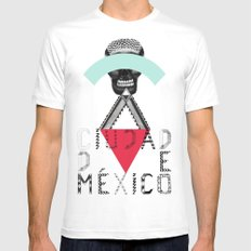 Locals Only - Ciudad de México White SMALL Mens Fitted Tee