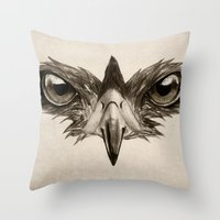 Hawk Eye Glare Throw Pillow