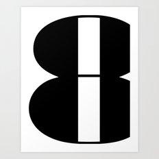 Typography Poster, black and white print, eight art print Art Print