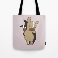Frenchie Hugs Tote Bag