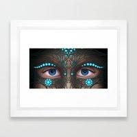 Halloween Mask - Painting Framed Art Print