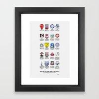 Alternate Football Teams Framed Art Print
