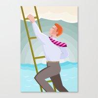 Businessman Officer Work… Canvas Print