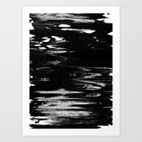Space Glitch Art Print