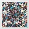 Colorful Plastics Abstract Canvas Print