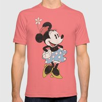 Minnie Mouse Mens Fitted Tee Pomegranate SMALL