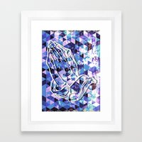 Prayer Prism (blue) Framed Art Print