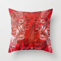 Anatomy Of A Disaster. Throw Pillow