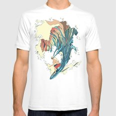 Blind Surfer Mens Fitted Tee SMALL White