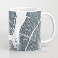 New York City Map Mug