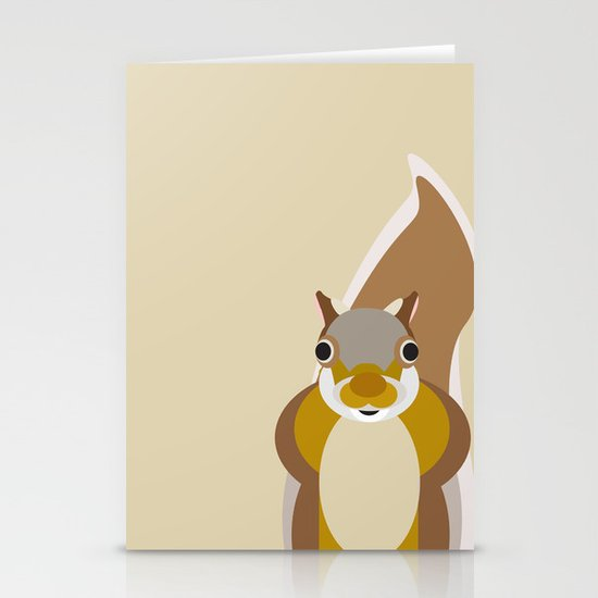 Squirrel Pattern Stationery Card
