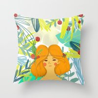 Let's Be Adventurers Gir… Throw Pillow