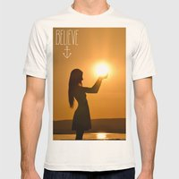 Believe Mens Fitted Tee Natural SMALL