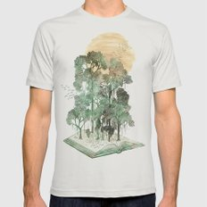 Jungle Book Mens Fitted Tee Silver SMALL