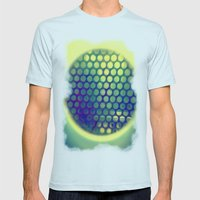 Circle-Ception  Mens Fitted Tee Light Blue SMALL