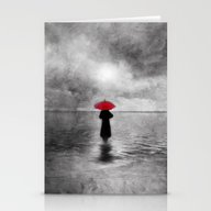 Stationery Cards featuring Waiting In The Sea II  -… by Viviana Gonzalez