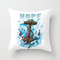Hope is my Anchor Throw Pillow