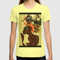 Junk Pile Womens Fitted Tee Lemon SMALL