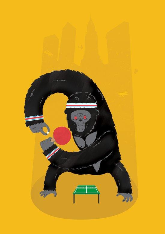 King Kong Ping Pong Art Print