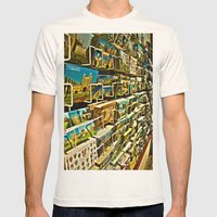 Postcards Mens Fitted Tee Natural SMALL