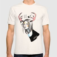 Buck (isolated) Mens Fitted Tee Natural SMALL