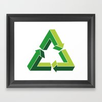 Recycle Infinitely Framed Art Print