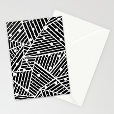Abstraction Spots Close Up Black Stationery Cards