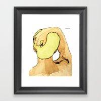 Green Haired Dream Boy Framed Art Print