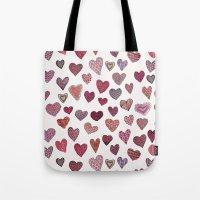 Artsy Hearts Tote Bag