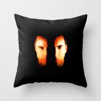 Face Off - Portrait Pain… Throw Pillow