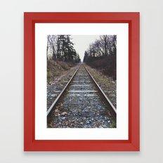 Train Tracks Framed Art Print