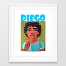 DIEGO por Diego Manuel Framed Art Print