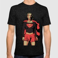 Girl Of Steel Mens Fitted Tee Tri-Black SMALL