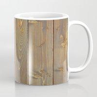 wood planks boards texture background Mug
