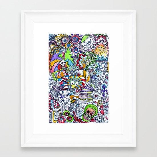 FUNHOUSE Framed Art Print