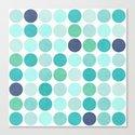 the blue dots Canvas Print