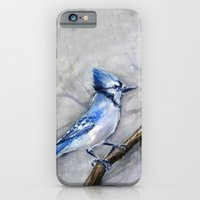 Blue Jay Watercolor | Bird Illustration iPhone 6 Slim Case