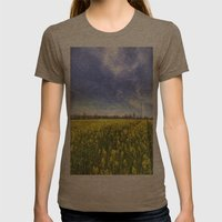 English Summer Farm Art Womens Fitted Tee Tri-Coffee SMALL